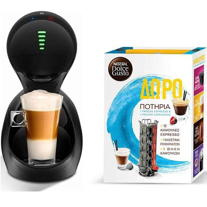 DOLCE GUSTO KP6008S MOVENZA ΜΑΥΡΗ ΜΕ GIFT BOX KRUPS